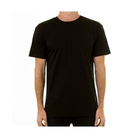 AS COLOUR T-SHIRT STAPLE TEE PLAIN BLACK NEW MENS AUSTRALIAN SELLER KINGPIN