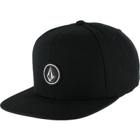 VOLCOM QUARTER SNAP BACK SKATEBOARD HAT CAP KINGPIN SNAPBACK SURF SK8 BLACK NEW