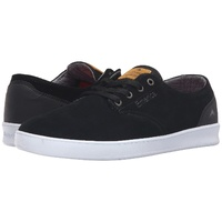 EMERICA SHOES ROMERO LACED BLACK / BLACK / WHITE SKATE SHOE NEW AUST FREE POST