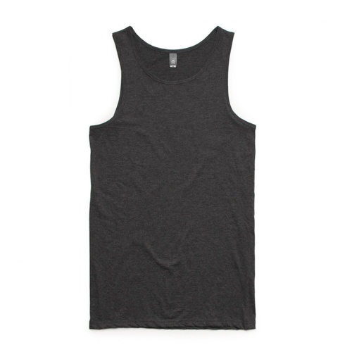 AS COLOUR SINGLET LOWDOWN TANK TOP ASPHALT MARLE PLAIN NEW MENS AUST SELLER