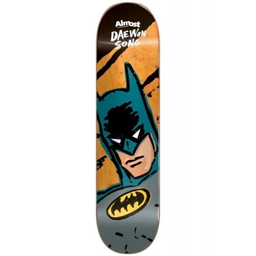 "ALMOST DAEWON SKETCHY BATMAN 7.75"" SKATEBOARD DECK FREE GRIP FREE POSTAGE"