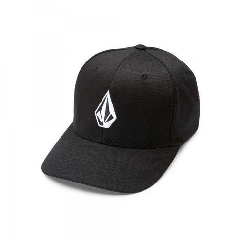 VOLCOM FULL STONE XFIT HAT BLACK NEW FLEXFIT CAP FREE POSTAGE SKATE SHOP AUST