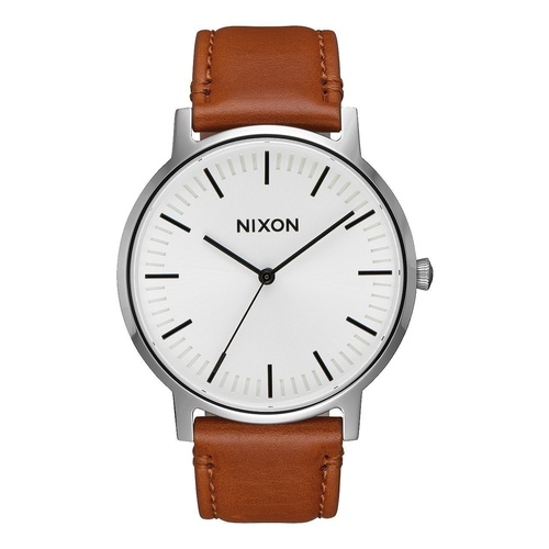 Nixon New Porter Leather Watch White / Sunray A10582442 Aust Seller Free Post