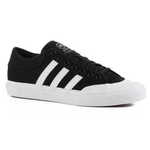 ADIDAS ORIGINALS MATCHCOURT BLACK / WHITE SKATEBOARD SHOES CANVAS F37383 SKATE