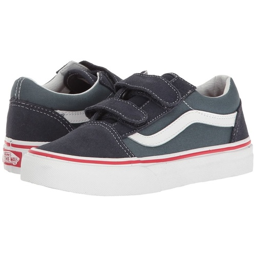 VANS SHOES OLD SKOOL V PARISAN NIGHT / NAVY KIDS  SUEDE YOUTH SKATE KIDS BOYS