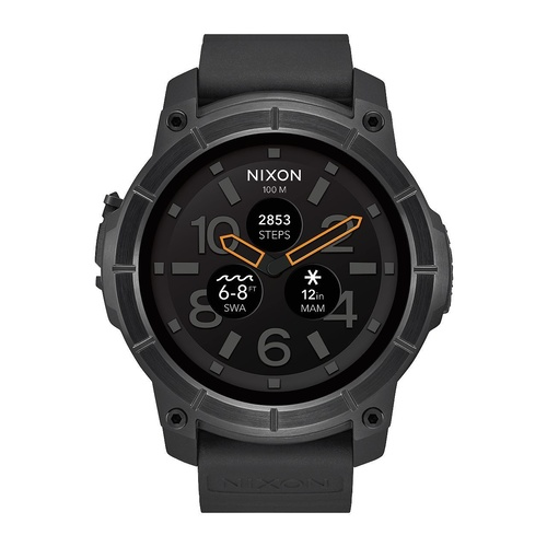 NIXON WATCH THE MISSION BLACK AUST SELLER A11672101-00 ANDRIODWEAR IPHONE APPLICATION [Colour: BLACK]