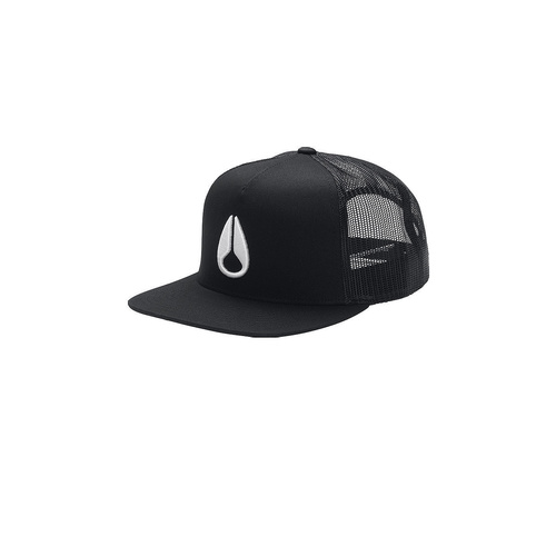 NIXON DEEP DOWN TRUCKER CAP BLACK BLACK WHITE NEW HAT AUST SELLER