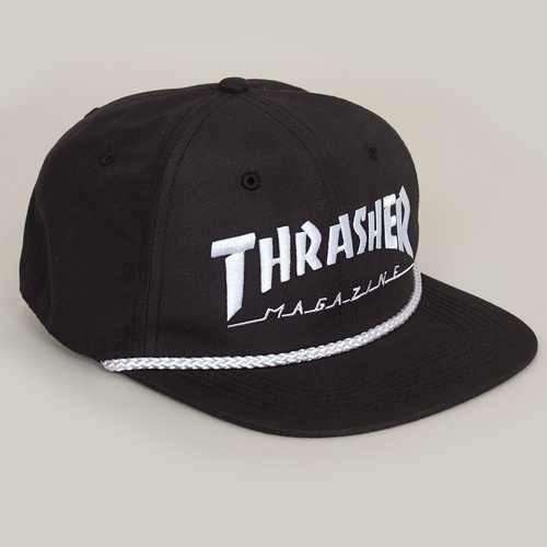 Thrasher Rope 6 Panel Hat Black / White New Cap Skate Free Postage Aust Seller